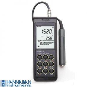 مشخصات،قیمت،خرید EC ، TDS ، NaCl هانا مدل HI9835
